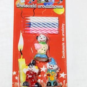 """Свічка """"З Днем народження"""" клоун"""