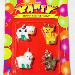 """Свічка """"День народження"""" звірі"""