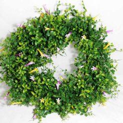 Вінок зелений з квітами GADH37