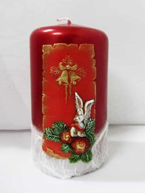 Свічка циліндр новорічний №2