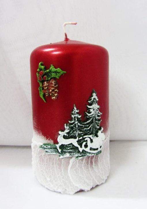 Свічка циліндр новорічний №3