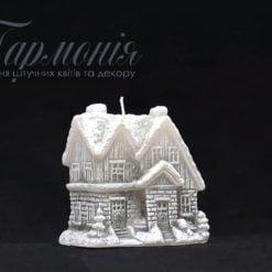 Свічка оздоблена «Будиночок» з діодами