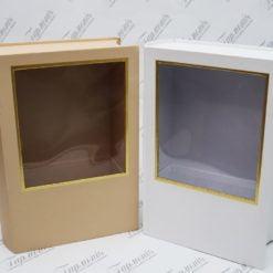 Коробка декоративна з віконечком «Книга» W6889