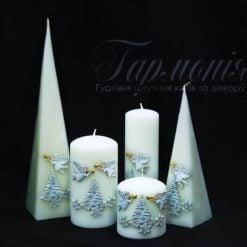 Свічка оздоблена «Ангелик та ялинка»