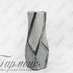 Ваза срібляста кручена з квадратним отвором MJ17F161B