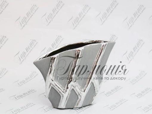 Ваза срібляста з низька MJ17F163B