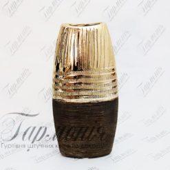 Ваза золотиста овальна вузька MJ17161B