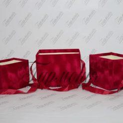 Набір коробок-сумочок декоративних велюрових W733