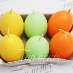 Свічки-яйця пасхальні кольорові 03530