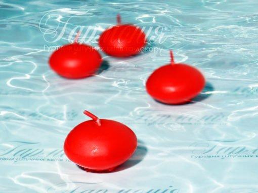 Свічка плаваюча червона (12 шт)