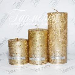 Свічка оздоблена H&S ELEGANT циліндр
