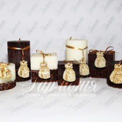 Свічка оздоблена ароматизована «Мішечок кави»