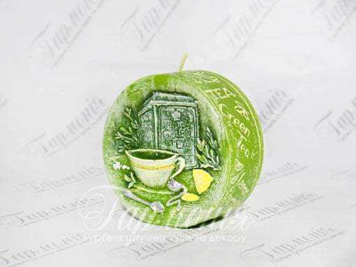 Свічка оздоблена ароматизована диск «Зелений чай», «Кава», «Лаванда»