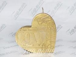 Свічка оздоблена «Серце»