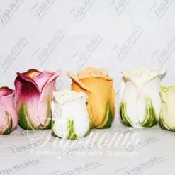 Свічка оздоблена «Троянда» ROZA PAK