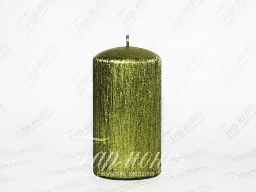 Свічка оздоблена текстурна циліндр