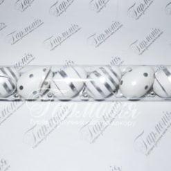 Писанки в тубусі в срібну смужку 6шт TG54824