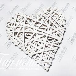 Серце плетене RY15344-30