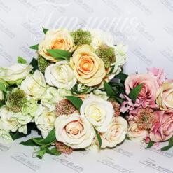Букет в'язка (гортензії, троянди) BW9101