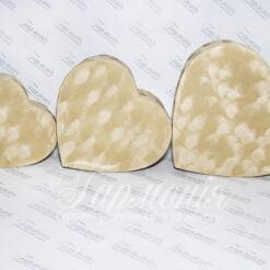 Набір коробок велюрових «Серце» W2050A