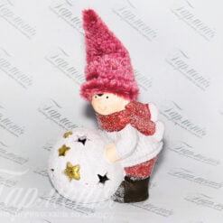 Фігурка «Хлопчик ліпить сніговика» малий 192083