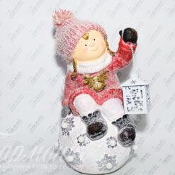 Фігурка «Дівчинка з ліхтариком на сніговій кулі» 18586 Н/Р