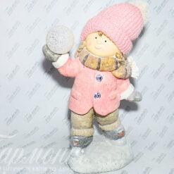 Фігурка «Дівчинка на ковзанах зі сніжкою» 19670 Н/Р
