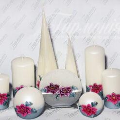 Свічка оздоблена Орхідея